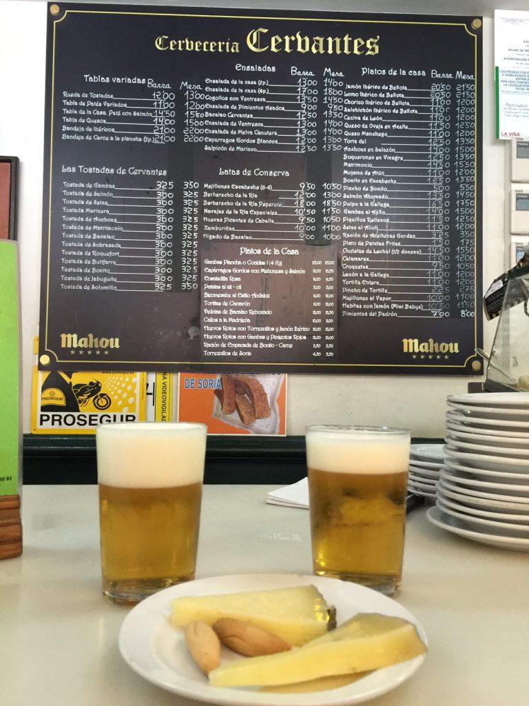 cerveceria cervantes madrid